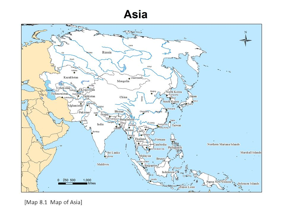 [Map 8.1 Map of Asia]
